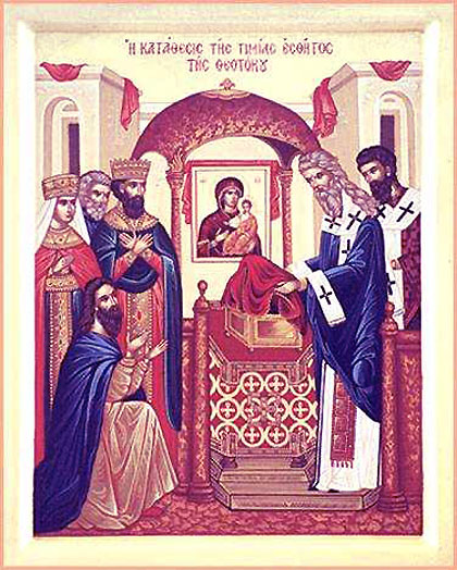JULY 3: COMMEMORATION OF THE DEPOSITION OF ROBE OF THE THEOTOKOS (JULY 2)