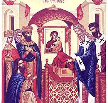 AUG 31: DEPOSITION OF THE CINCTURE OF THE THEOTOKOS