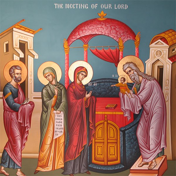 FEB 2 : THE FEAST OF THE ENCOUNTER OF OUR LORD WITH SIMEON & ANNA (CANDLEMAS)