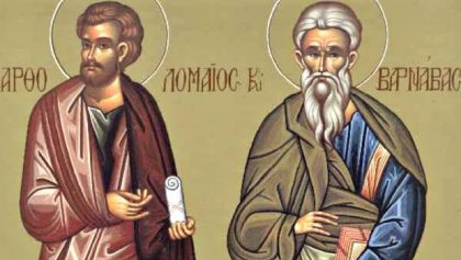 JUNE 11: COMMEMORATION OF BARTHOLOMEW & BARNABAS APOSTLES