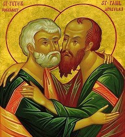 JUNE 29: FEAST OF PETER & PAUL PREEMINENT APOSTLES (HOLY DAY OF OBLIGATION)