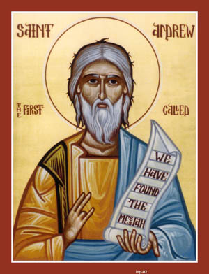 NOV 30 & DEC 1: 25TH SUNDAY AFTER PENTECOST & COMMEMORATION OF ST. ANDREW APOSTLE (NOV 30TH)