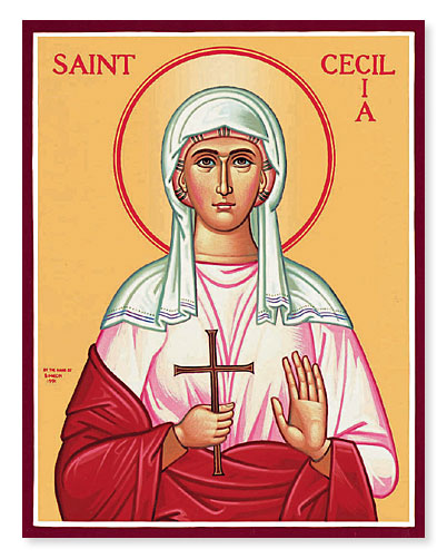 NOV 18 – 19, NOV 22: 24TH SUNDAY AFTER PENTECOST & COMMEMORATION OF ST. CECELIA (NOV 22ND)