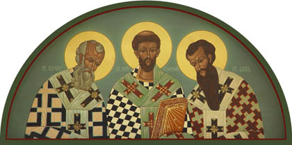 JAN 30: COMMEMORATION OF THE 3 HOLY ECUMENICAL TEACHERS & HIERARCHS: BASIL THE GREAT, GREGORY THE THEOLOGIAN & JOHN CHRYSOSTOM