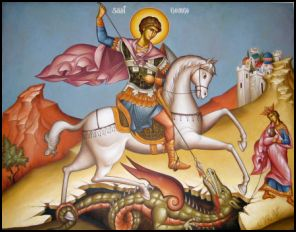APRIL 21 & 23: COMMEMORATION OF ST. GEORGE GREAT- MARTYR (SIMPLE HOLY DAY)