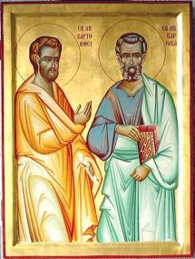 JUNE 11 & 12: COMMEMORATION OF BARTHOLOMEW & BARNABAS APOSTLES