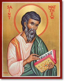 NOV 16: COMMEMORATION OF MATTHEW APOSTLE - EVANGELIST