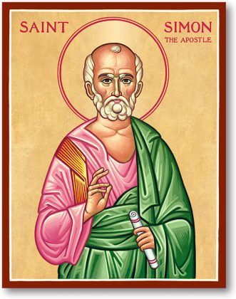 MAY 10: COMMEMORATION OF SIMON THE ZEALOT APOSTLE